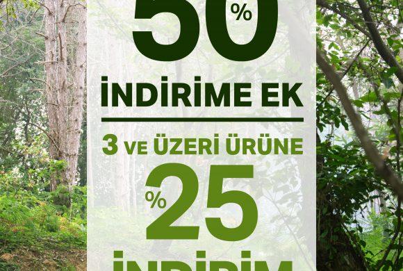 Kiğılı Yeni Sezonda Net Yüzde 50 İndirime Ek 3 ve Üzeri Ürüne Yüzde 25 İndirim
