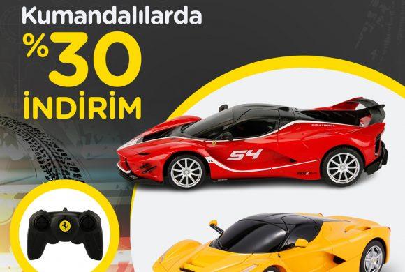 Rastar 1/24 Ölçek Ferrari Uzaktan Kumandalılar Yüzde 30 İndirimde